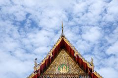 Wat Thai Temple for worship. it`s faith of buddhism. To pray for god helpful and goodluck in Thailand. Wat Thai also have beautiful golden architecture Stock Images