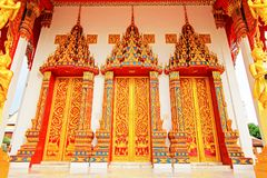 Door Of Wat Tham Bucha, Surat Thani, Thailand stock photography