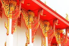Roof Decoration In Wat Tham Bucha, Surat Thani, Thailand royalty free stock photos