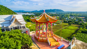 Wat Tham Faet. Temple have two caves inside the temple,temple is on the top of mountain Stock Image