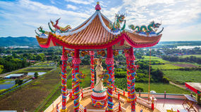 Wat Tham Faet. Temple have two caves inside the temple,temple is on the top of mountain Royalty Free Stock Images