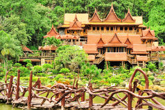 Wat Tham Khao Wong Arkivfoto