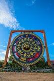 wat Tham Khuha萨万在湄公河旁边的美丽的寺庙 免版税图库摄影