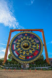 wat Tham Khuha Sawan den härliga templet bredvid Mekong Royaltyfri Fotografi
