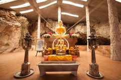 Wat Tham Pu Wa, Kanchanaburi, Tailândia Imagem de Stock