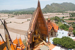 Wat Tham Seua, Thai and Chinese temples. On the hills, Kanchanaburi province Royalty Free Stock Photography