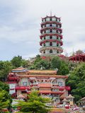 Wat Tham Seua , Thai and Chinese temples. Wat Tham Seua , Thai and Chinese temples on the hills, Kanchanaburi province , Thailand Royalty Free Stock Photos