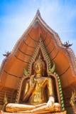 Wat Tham Seua, thailändska och kinesiska tempel Fotografering för Bildbyråer