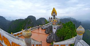 Wat Tham Sua in Krabi. The Wat Tham Sua, or Tiger Cave Temple, in Krabi, Thailand stock photography