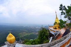 Wat Tham Sua in Krabi. The Wat Tham Sua, or Tiger Cave Temple, in Krabi, Thailand stock images