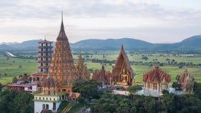 Wat Tham Sua, secteur de Tha Muang, Kanchanaburi, Thaïlande Photos libres de droits