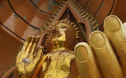 Close-up of buddha statue in Wat Tham Sua Tham Sua temple stock image