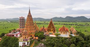 Wat Tham Sua, Tha Muang okręg, Kanchanaburi, Tajlandia Zdjęcie Stock