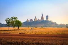 Wat tham sua. Thai temple in Kanchanaburi, Thailand Stock Image