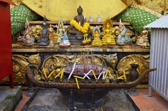 Wat Tham Sua in Krabi. The Wat Tham Sua, or Tiger Cave Temple, in Krabi, Thailand. October 23, 2014 Stock Photos