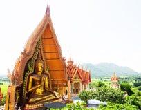 Wat Tham Sua (Tiger Cave Temple), Tha Moung, Kanchanburi, Thailan Royaltyfri Fotografi