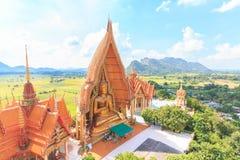 Wat Tham Suea寺庙的菩萨 免版税图库摄影