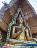 Wat Tham Suea. THAM SUEA Temple Buddha Images architectural style by Chinese arts located Kanchanaburi province Thailand Stock Photo