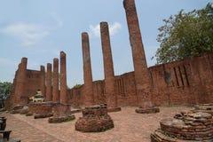 Wat Thammikarat历史的建筑学在阿尤特拉利夫雷斯历史的p 库存照片