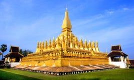 Wat Thap Luang de oro en Vientián, Laos Imagen de archivo libre de regalías