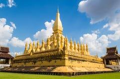 Wat Thap Luang dourado Imagens de Stock