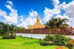 Wat Thap Luang in Laos Stock Photo