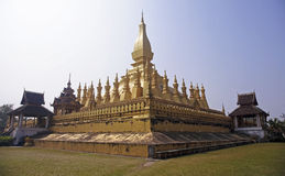 Wat Thap Luang in Vientiane Stock Photography