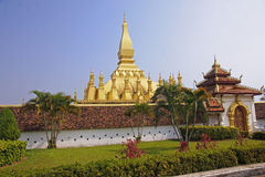 Wat Thap Luang in Vientiane Royalty Free Stock Photos