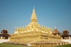 Wat Thap Luang in Vientiane, Laos Stock Photo