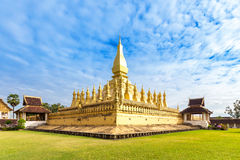 Wat Thap Luang in Vientiane, Laos. Royalty Free Stock Photos