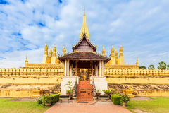 Wat Thap Luang in Vientiane, Laos. Stock Images