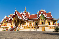 Wat Thatluang Neua in Vientaine, Laos Royalty Free Stock Photos
