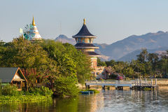 Wat Thawornwararam temple in Kanchanaburi Stock Images