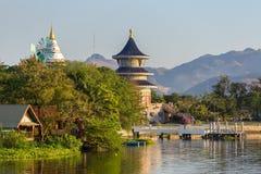 Wat Thawornwararam temple in Kanchanaburi Stock Images