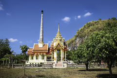 Wat Thep Charoen κοντά σε Chumphon, Ταϊλάνδη Στοκ Φωτογραφία
