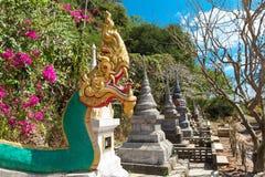 Wat Thep Charoen près de Chumphon, Thaïlande Photographie stock