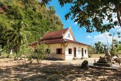Wat Thep Charoen près de Chumphon, Thaïlande Images libres de droits