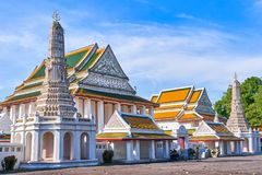 Wat Thepthidaram buddistisk tempel i Bangkok Royaltyfri Fotografi