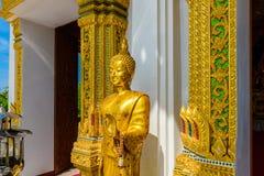 Wat Thipsukhontharam-tempel, Kanchanaburi-provincie, Thailand Royalty-vrije Stock Fotografie