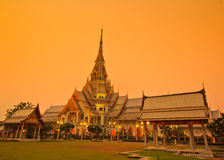 Wat So-thorn Temple in the evening Royalty Free Stock Photography