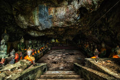 Wat Thum koo Ha or Koo Ha cave temple Royalty Free Stock Images