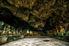 Wat Thum koo Ha or Koo Ha cave temple Royalty Free Stock Photos