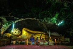 Wat Thum-koo ha oder Koo Ha-Höhlentempel Stockbild