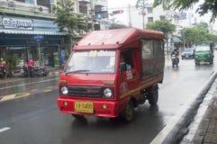 99 Wat Thung - market Bangpakok mini Thai taxi Stock Images