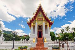 Wat Thung Si Muang temple Stock Photography