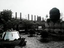 Wat Tmmickarat är en tidigare kunglig kloster i den Ayutthaya perioden royaltyfri fotografi