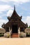 Wat Ton Kain, capilla de madera de la teca vieja en el chiangmai, Tailandia Fotos de archivo libres de regalías