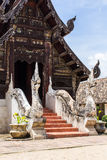 Wat Ton Kain ,Old Teak Wooden Chapel in chiangmai, Thailand Stock Photo