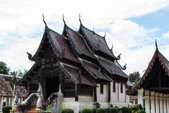 Wat Ton Kain ,Old Teak Wooden Chapel in chiangmai, Thailand Stock Images
