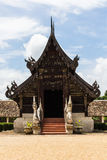 Wat Ton Kain ,Old Teak Wooden Chapel in chiangmai, Thailand Royalty Free Stock Photos